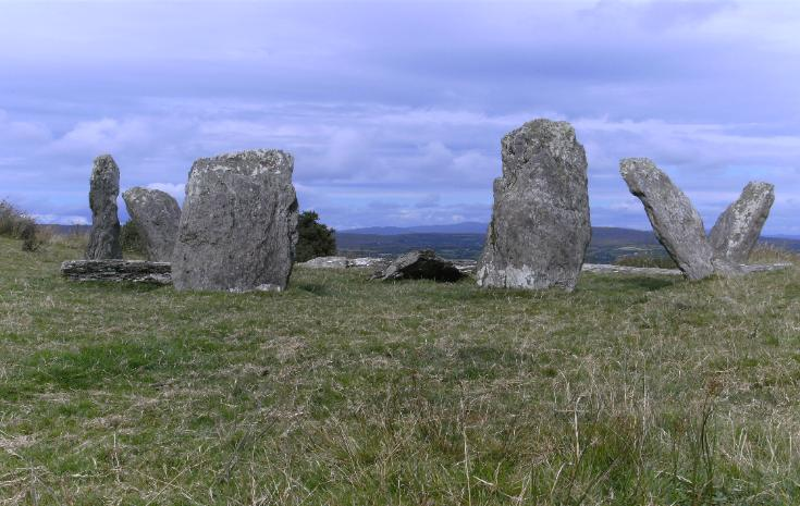 DUNBEACON STONE CIRCLE, COUNTY CORK