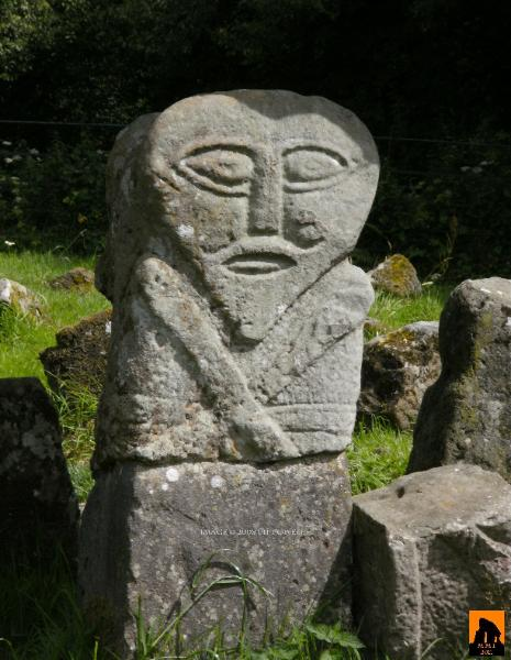 Boa island figure carved stone megalithic monuments of