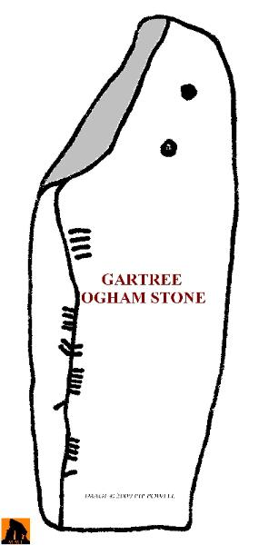 GARTREE OGHAM DRAWING, COUNTY ANTRIM